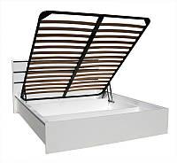 Кровать Прага 1.4м белый лак с подъемным механизмом