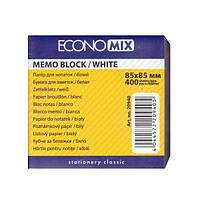 Блок бумаги для записей белый непроклеенный 85 х 85, Е20940