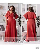Эффектное женское вечернее платье в пол больших размеров с 50 по 60