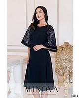 Нарядное женское платье  А-силуэта украшенное пайеткой в 3-х цветах с 50 по 62 размер