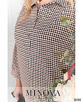 Стильное женское платье-рубашка батал с 50 по 68 размер, фото 2