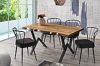 Набор мебели  KUTUK masa (140*90*75) - AHTAPOT saтол + 4 стула) Mobilgen, Турция