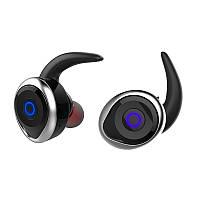 Спортивные вакуумные блютуз наушники беспроводные AWEI T-1 Twins Earphones Bluetooth затычки, фото 1
