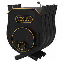 Печь калориферная «VESUVI» с варочной поверхностью+стекло «02», 18 кВт-500 м3