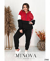 Женский спортивный костюм из флиса в 2-ух расцветках с 50 по 62 размер