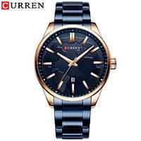 Наручные часы Curren 8366 Blue-Gold Оригинал годовая гарантия на механизм