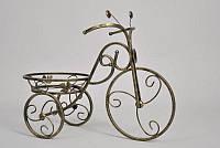 Кованая подставка для цветов Велосипед 1 малый черный, фото 1