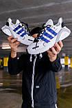 "Стильные кроссовки Adidas Lexicon ""White/Blue/Black"", фото 2"