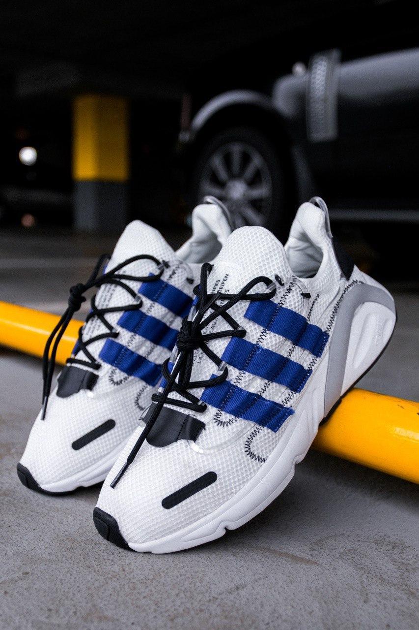 "Стильные кроссовки Adidas Lexicon ""White/Blue/Black"""