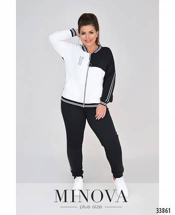 Модный женский спортивный костюм батал с 50 по 62 размер, фото 2