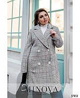 Кашемировое демисезонное женское пальто больших размеров с 48 по 62