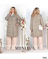 Эффектное женское пальто из кашемира батал с 48 по 62 размер, фото 3