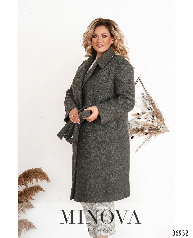 Тёплое зимнее женское пальто А-силуэта с 48 по 62 размер