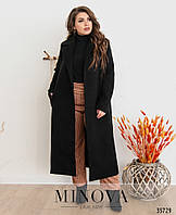 Длинное женское пальто из кашемира больших размеров с 48-58