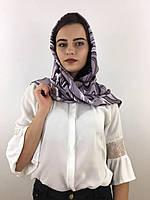 """Шарф жіночий брендовий  """"Абстракція"""", в 10 кольорових гамах, 180*70см.,  Eyfel, Туреччина Світло сірий-білий-чорний"""