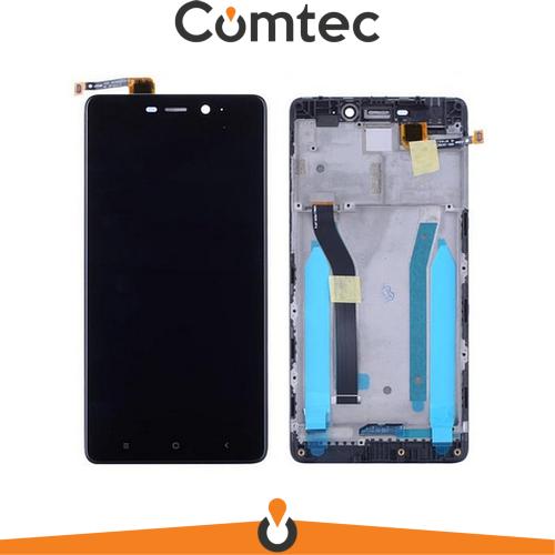 Дисплей для Xiaomi Redmi 4 Prime/Redmi 4 Pro с тачскрином (Модуль) черный, с передней панелью (рамкой)