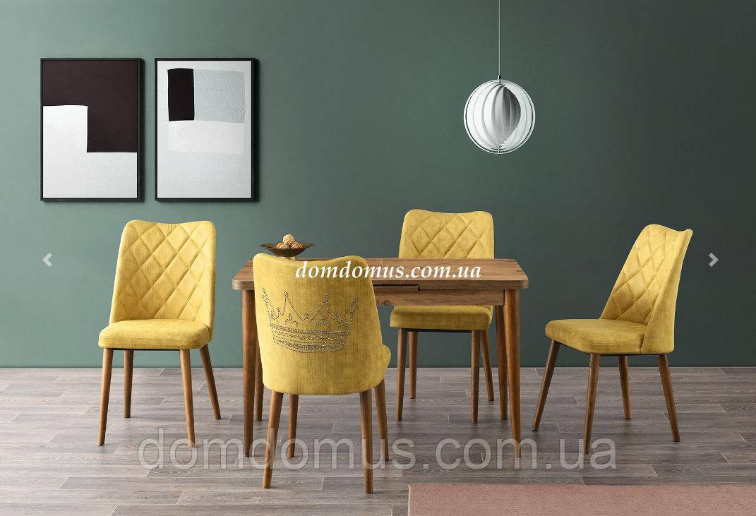 Комплект обеденной мебели SILVA masa dis budak 20+30/70/75 - стол + 4 стула  Mobilgen, Турция