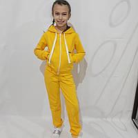 Детский спортивный костюм для девочки жёлтый