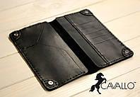 Мужской портмоне из натуральной кожи Cavallo™ Crazy Horse Classic, черный