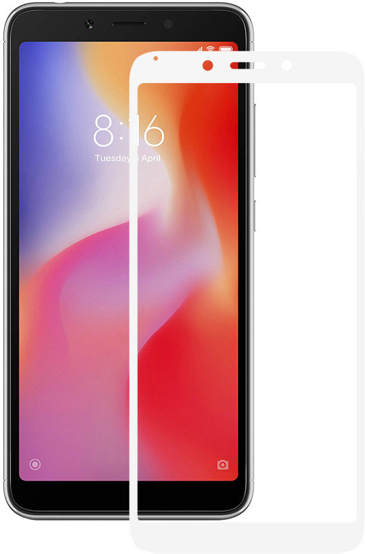 Защитное стекло Mocolo 2.5D Full Cover Tempered Glass Xiaomi Redmi 6/6A White