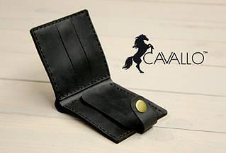Чоловічий гаманець з натуральної шкіри з монетницею Cavallo™ Crazy Horse Classic, чорний С0005