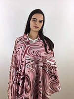 """Шарф жіночий брендовий  """"Абстракція"""", в 10 кольорових гамах, 180*70см.,  Eyfel, Туреччина Рожевий-білий"""