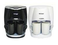 Капельная кофеварка Livstar LSU-1190 black ОРИГИНАЛ 650 Вт Маленькая кофемашина для дома с двумя чашками