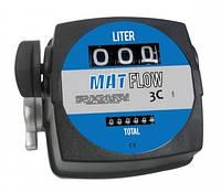 Механический счетчик расходомер для топлива и масел MAT FLOW 3C ( 20-120л/мин ) Adam Pumps Италия