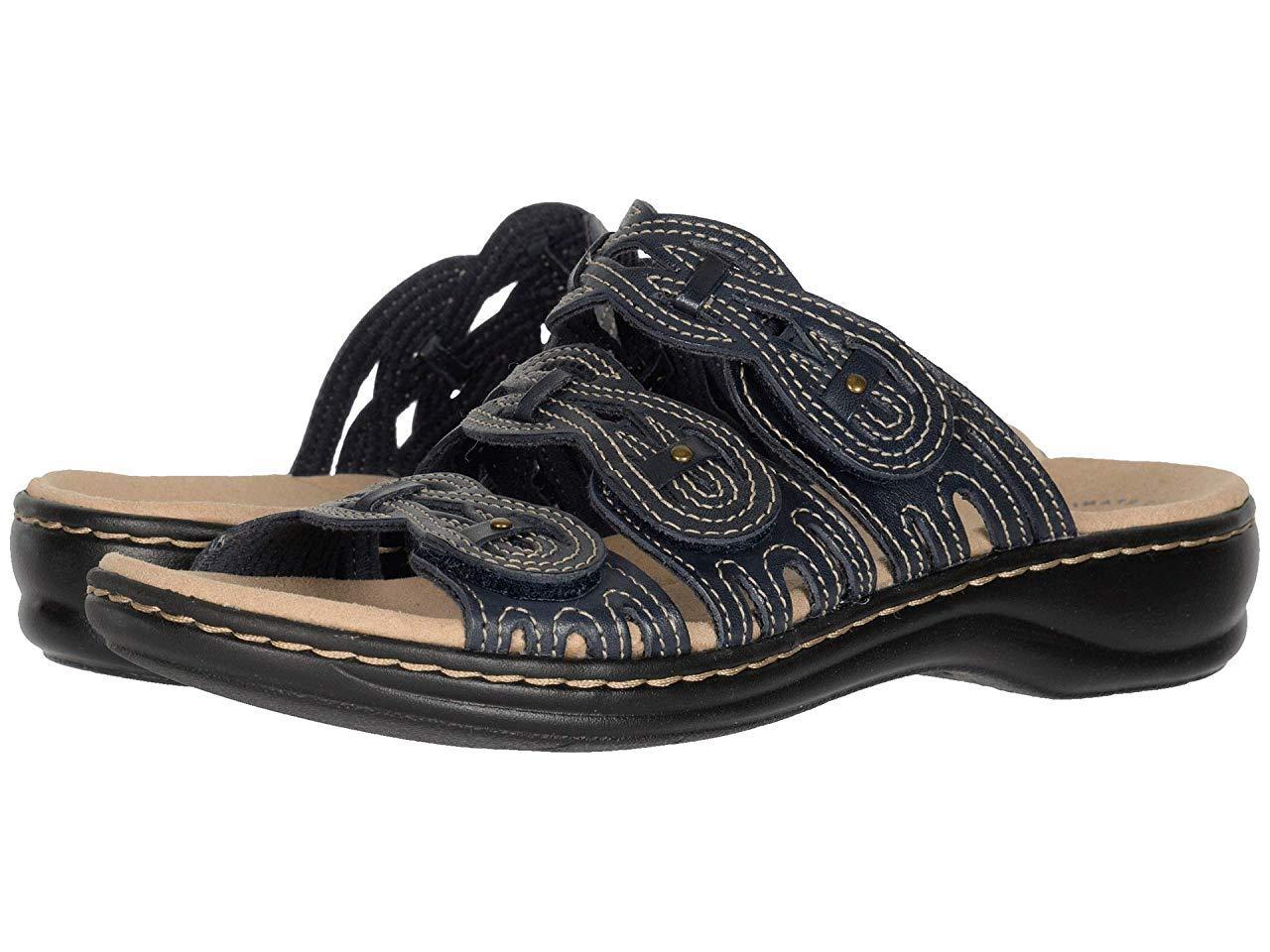 Сандали/Вьетнамки Clarks Leisa Faye Navy Leather