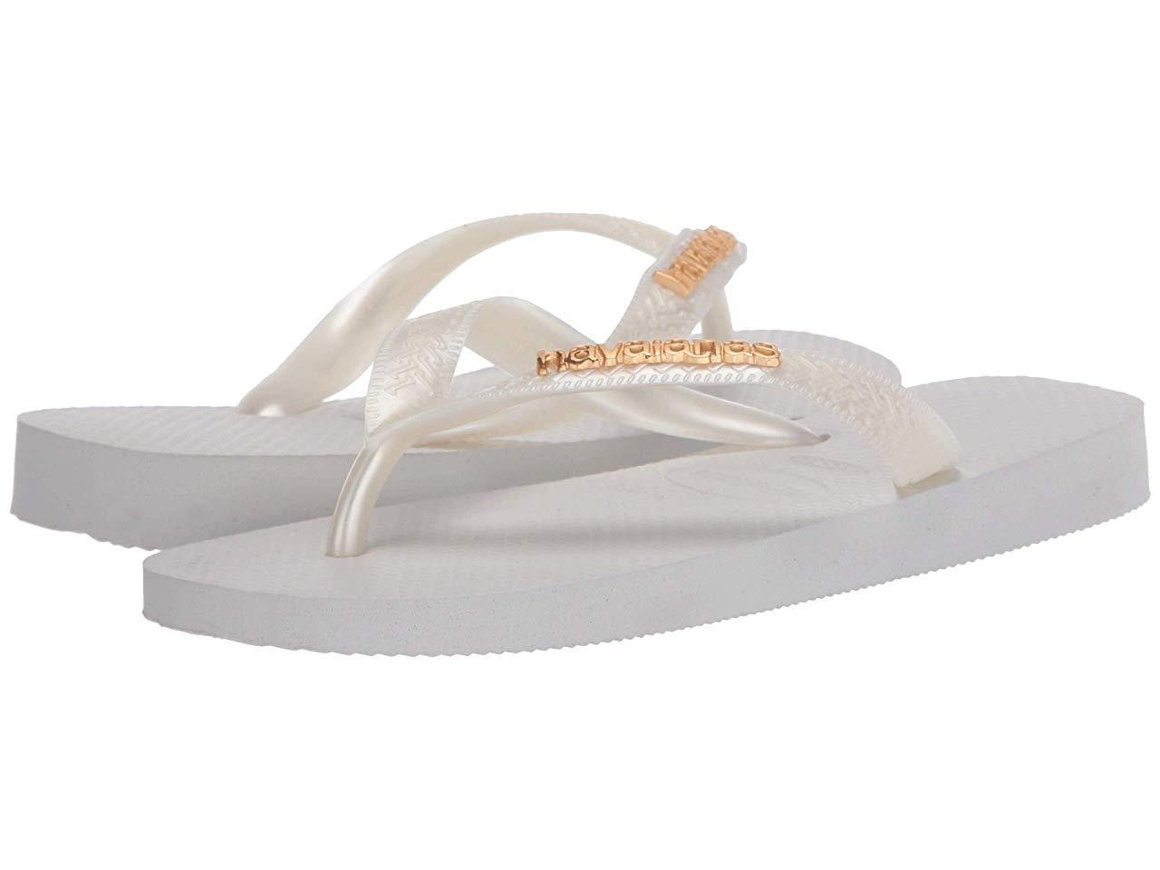Сандали/Вьетнамки Havaianas Top Logo Metallic Flip Flops White