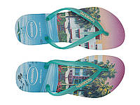 Сандали/Вьетнамки Havaianas Slim Paisage Flip Flops White/Light Green, фото 1