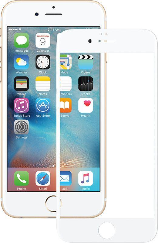 Защитное стекло Mocolo 2.5D Full Cover Tempered Glass iPhone 6/6s Silk White