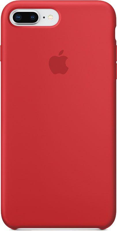 Чехол-накладка Apple Silicone Case iPhone 8 Plus/7 Plus PRODUCT RED (MQH12ZM/A)