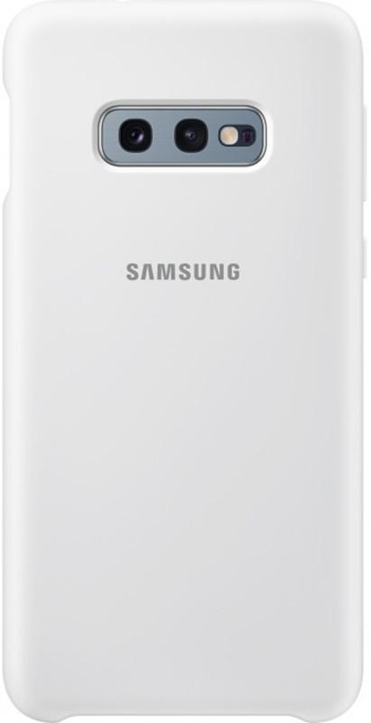Чехол-накладка Samsung Silicone Cover Galaxy S10e (EF-PG970) White
