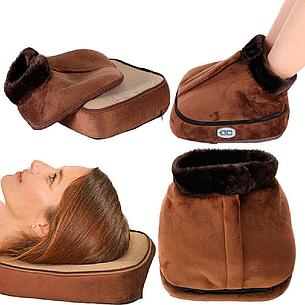 Электрогрелка, массажер для ног, 2 in 1 Warm Massager с застежкой, фото 2