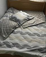 Двуспальный комплект комбинированого постельного белья, Сатин 100% хлопок, 180х220 см