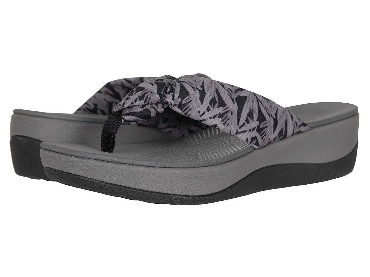 Сандали/Вьетнамки Clarks Arla Glison Black/Grey Floral Textile