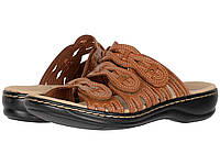 Сандали/Вьетнамки Clarks Leisa Faye Tan Leather, фото 1