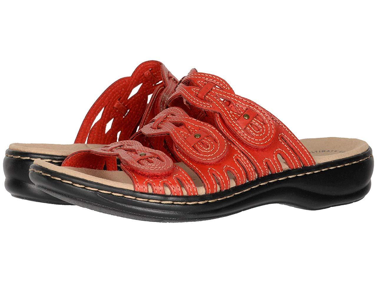 Сандали/Вьетнамки Clarks Leisa Faye Red Leather