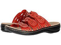 Сандали/Вьетнамки Clarks Leisa Faye Red Leather, фото 1