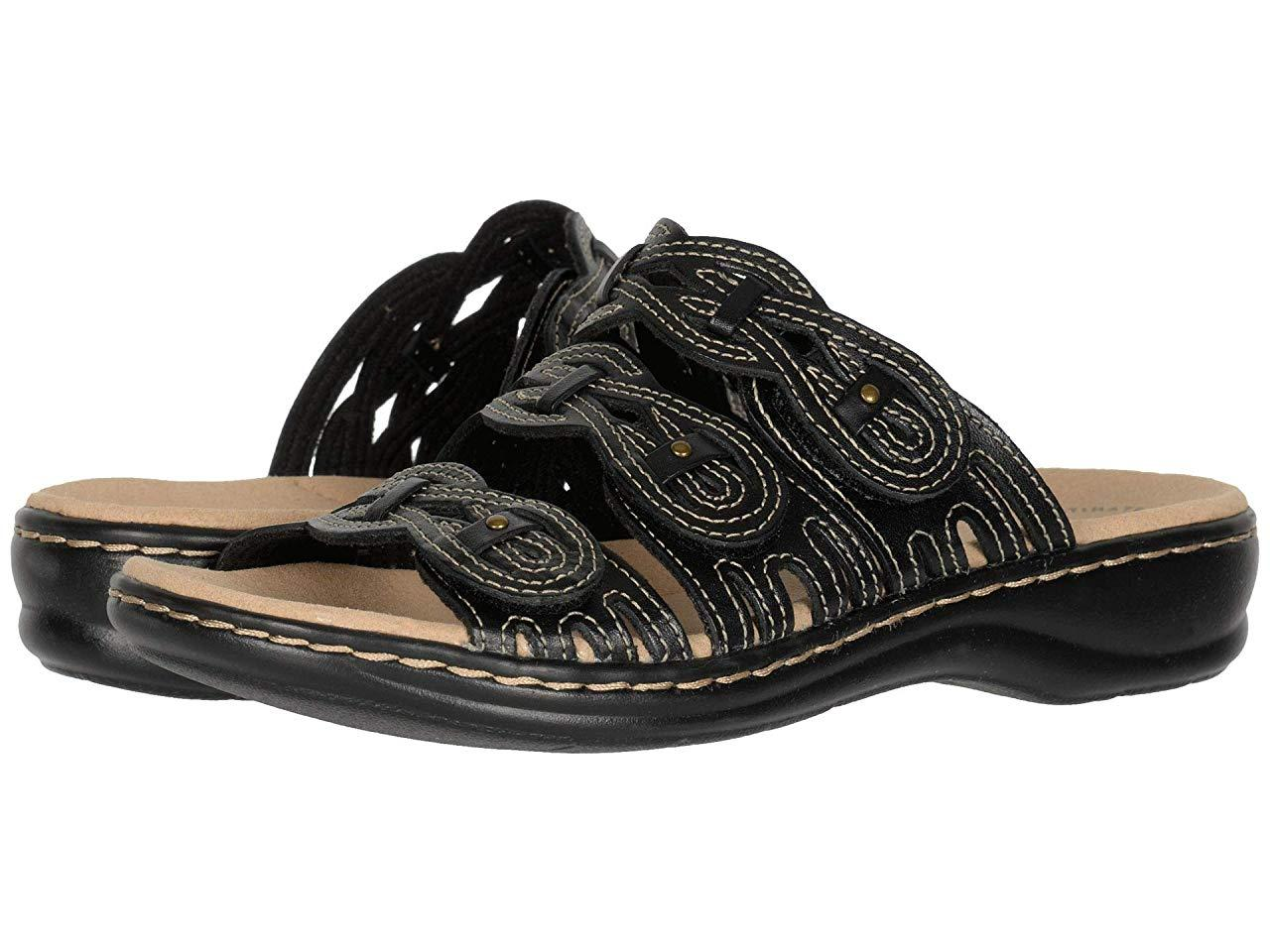 Сандали/Вьетнамки Clarks Leisa Faye Black Leather