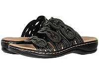 Сандали/Вьетнамки Clarks Leisa Faye Black Leather, фото 1