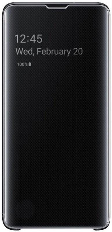Чехол-накладка Samsung Clear View Cover Galaxy S10 (EF-ZG973) Black