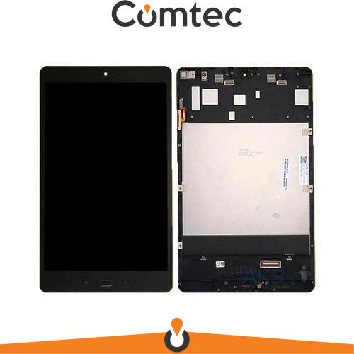 Дисплей для Asus ZenPad 3S 10 Z500KL с тачскрином (Модуль) черный, с передней панелью (рамкой)