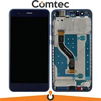 Дисплей для Huawei P10 Lite (WAS-LX1/LX2/LX3) с тачскрином (Модуль) синий, с передней панелью (рамкой)