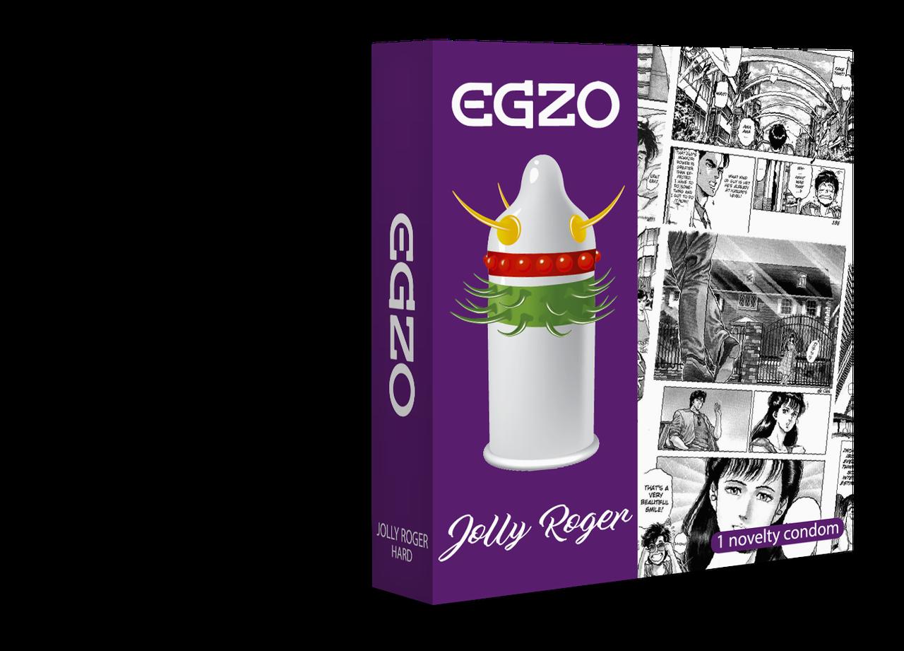 Насадка на член EGZO Jolly Roger (презерватив с усиками)