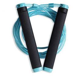 Скакалка Kyto 2109D на подшипниках для MMA CrossFit бокса стальной шнур регулировка длины (acf_00533)