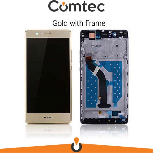 Дисплей для Huawei P9 Lite (VNS-L21/VNS-L31)/G9 Lite/Venus с тачскрином (Модуль) золотистый, с передней панелью (рамкой)