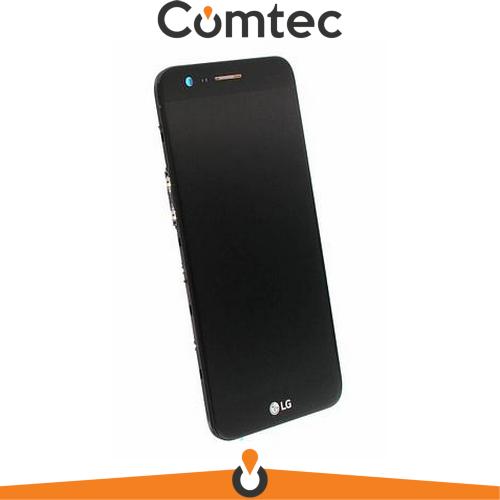 Дисплей для LG M250 K10 (2017)/X400 с тачскрином (Модуль) черный, с передней панелью (рамкой), оригинал