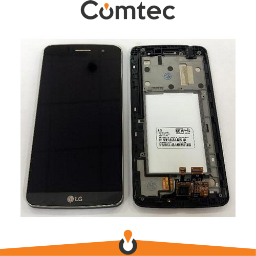 Дисплей для LG X190 Ray Dual Sim с тачскрином (Модуль) серый, Titan Black, с предней панелью, оригинал